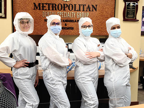 Metropolitan Dental Speciality Group Staff in PPE