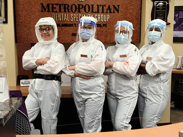 Metropolitan Dental Speciality Group Four Staff in PPE
